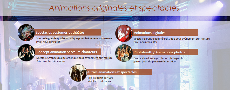 animations spectacles animations