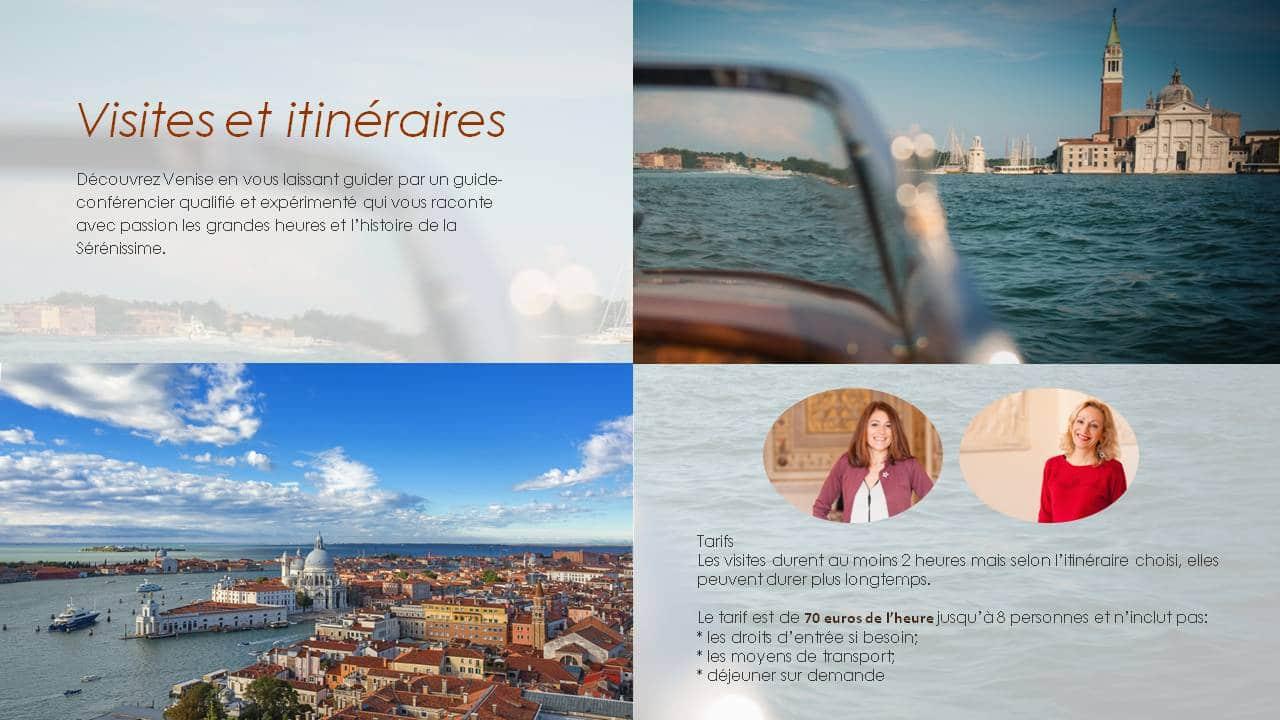 Itinéraires et visites à Venise.