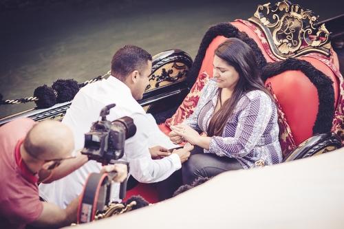 Demande en Mariage à Venise sur une gondole