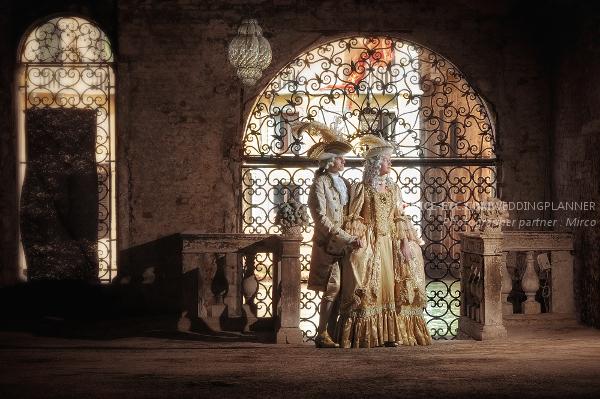 Mariage masque Venise Costumé
