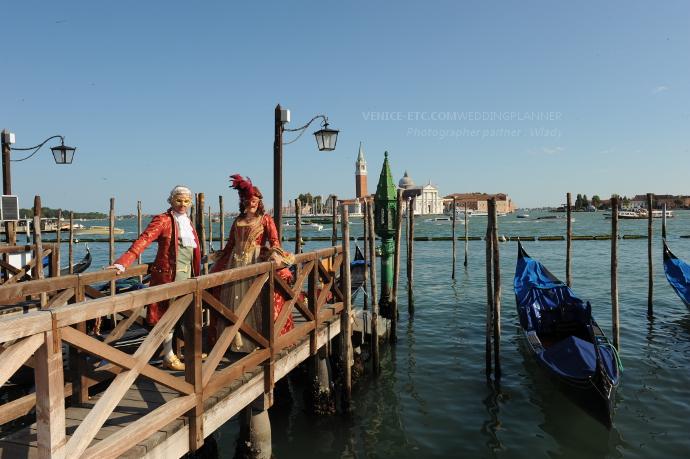 Mariage à Venise en costume
