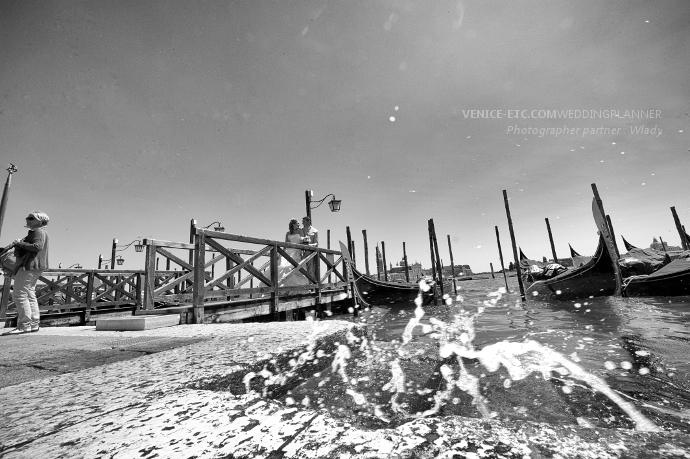 Venise, photo en blanc et noir