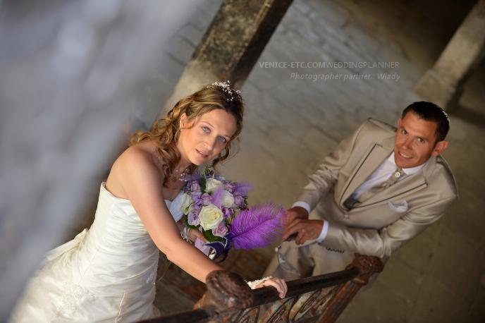 Photo dans un mariage à Venise