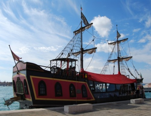 Galion de pirate, lagune de Venise