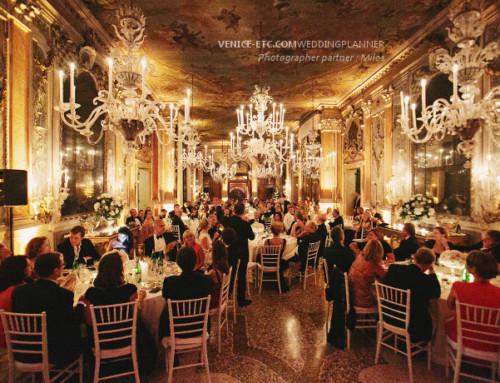 Fête de mariage dans luxueux palais Vénitien