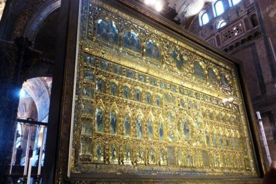 Retable d'or de la basilique Saint Marc à Venise (Pala d'Oro).