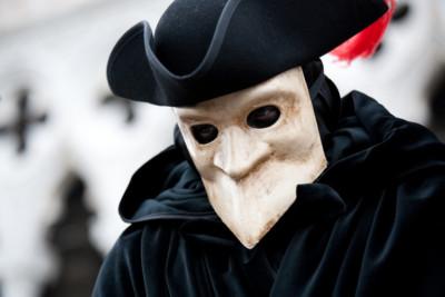 Bauta, masque typique du carnaval de Venise.