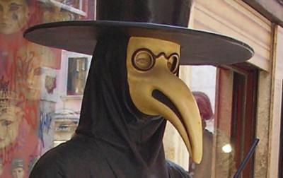 Masque du medecin de la peste, traditionnel du carnaval de Venise
