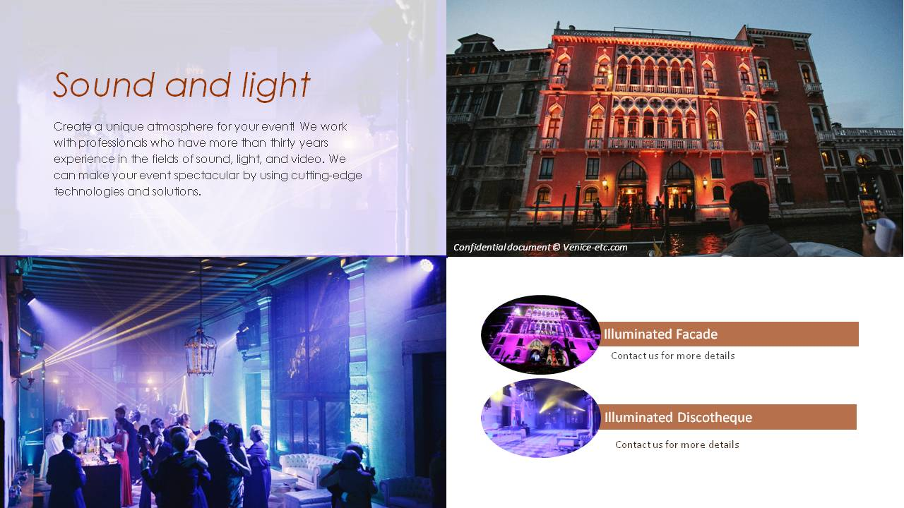 venice sound and light for events