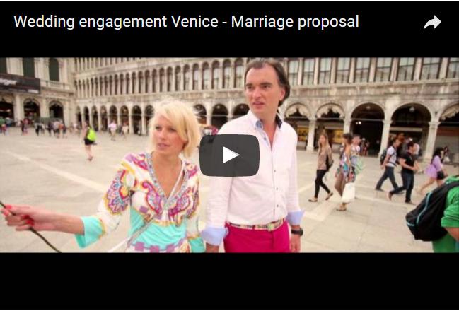 video demande en mariage venise