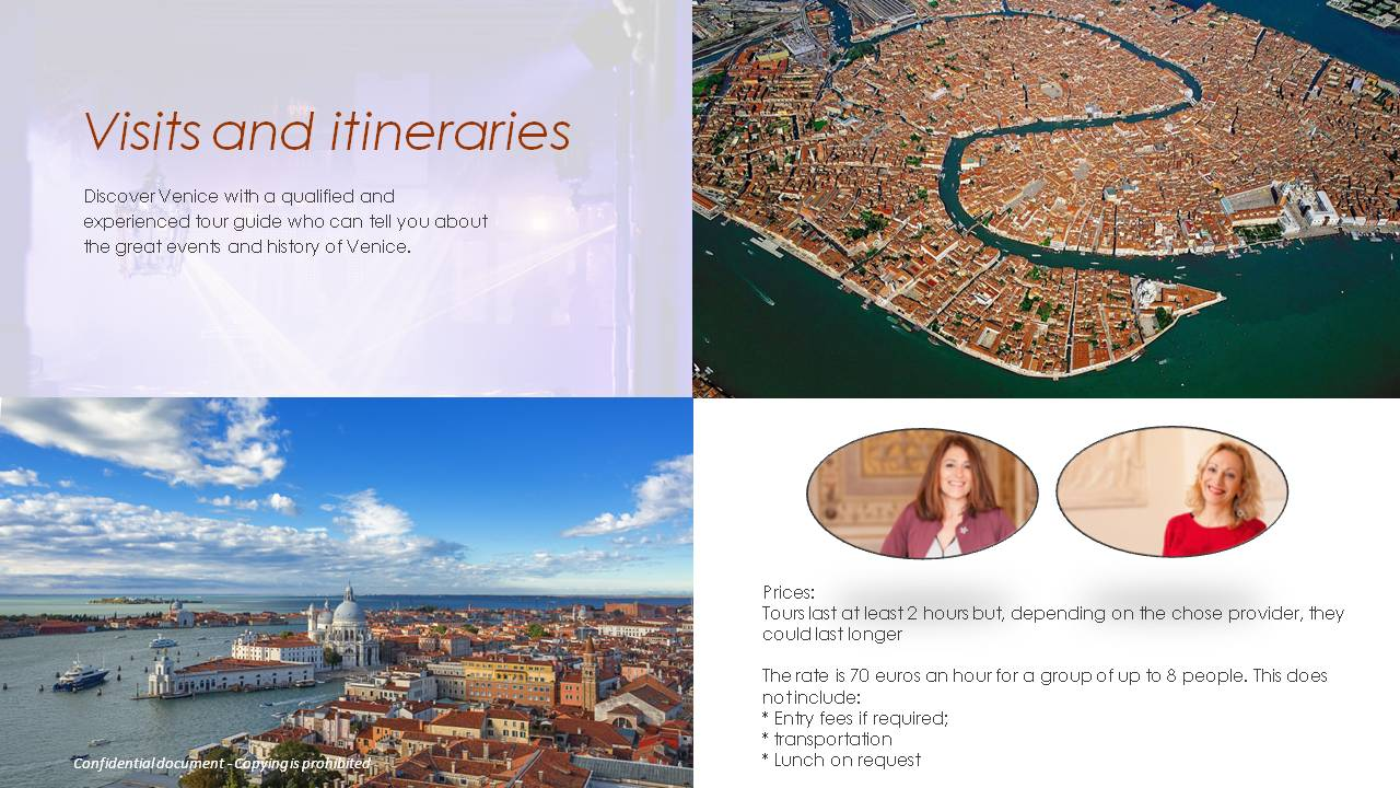 visits itineraries in venice