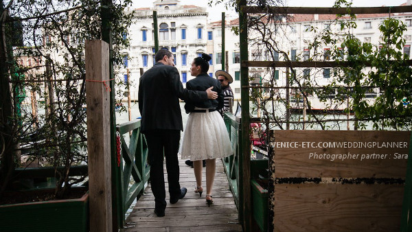 Civil wedding in venice of Alessandre and Jessica