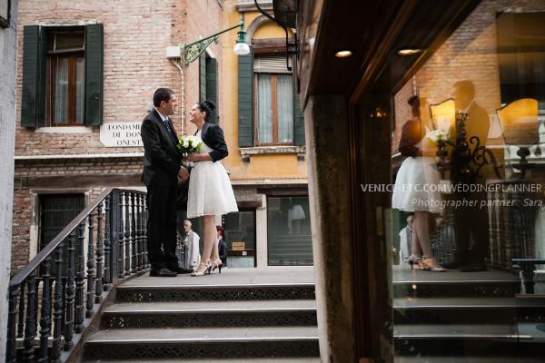 Civil wedding in venice of Alessandre and Jessica 9