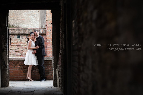 Civil wedding in venice of Alessandre and Jessica 11