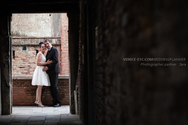 Civil wedding in venice of Alessandre and Jessica 11