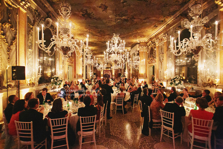 Wedding party in luxury Venetian palace