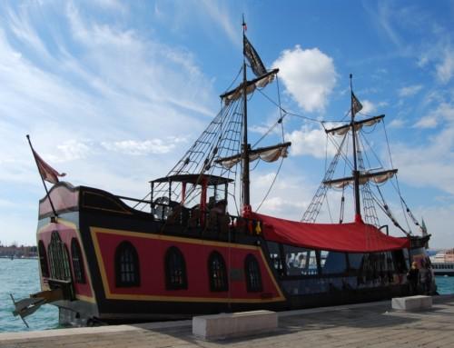 Pirate Galleon in Venice lagoon